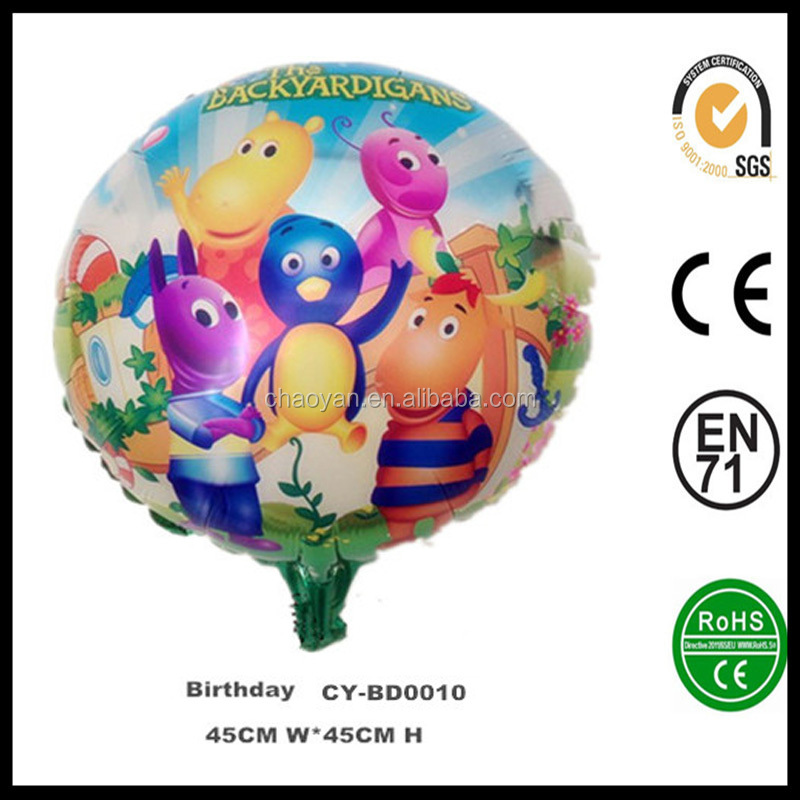 "Wholesale 18"" Birthday Party Backyardigans Inflatable Helium Balloon"