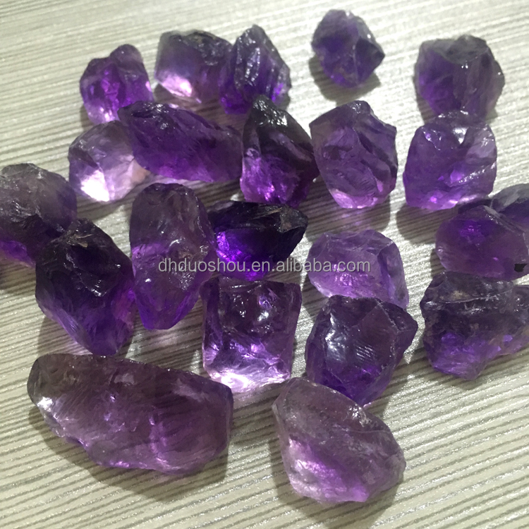 Brazil Untrimmed Dark Purple Raw Gemstone Super Clarity Stone Natural Price of Amethyst Rough