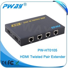 Pinwei PW-HT0105 local HDMI output 50m HDMI splitter amplifirer over single cat5e/6 cable support 3D 4k2k