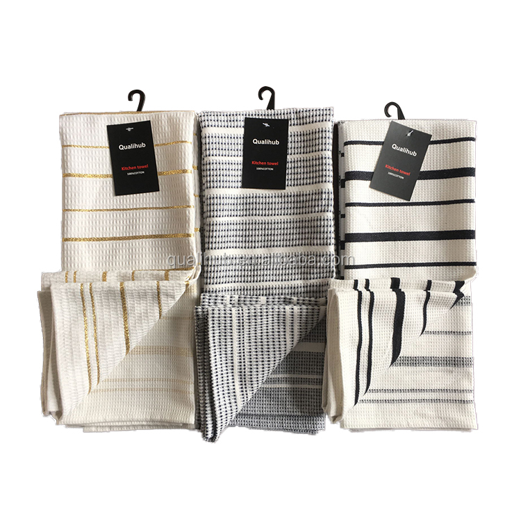 new design kitchen towel with golden or silver thread blend material