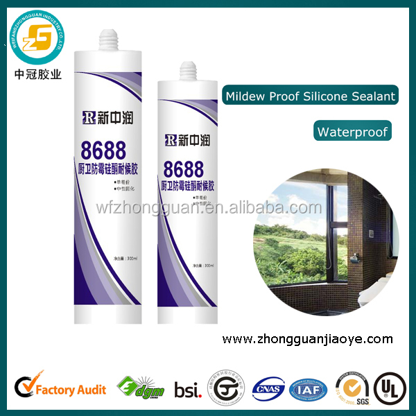 Waterproof Neutral Silicone Sealant for Bathroom Glass Windows Ceramic Tiles