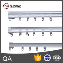 plastic curved curtain tracks and carrier for luxury curtain with easy use and stronger quality