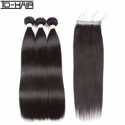 TD HAIR Beauty products super soft high quality virgin peruvian straight 100 human hair