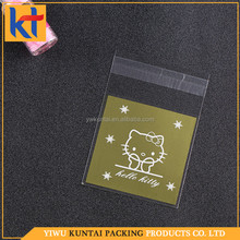 Manufacture factory gravure printing mixed design .mixed color opp self adhesive bag.self adhesive cellophane bags