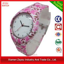 R0744 2017 Popular ladies sweet and cheap silicone flower wrist watch