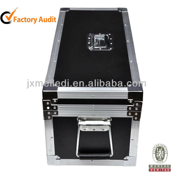 Black Custom Aluminum Frame Rolling Plastic Hard Keyboard Flight Case For Television Equipment