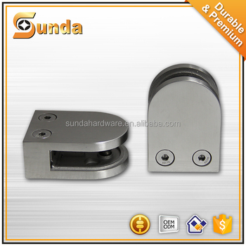 wholesale price 304/316 stainless steel glass balustrade fixing glass clamp