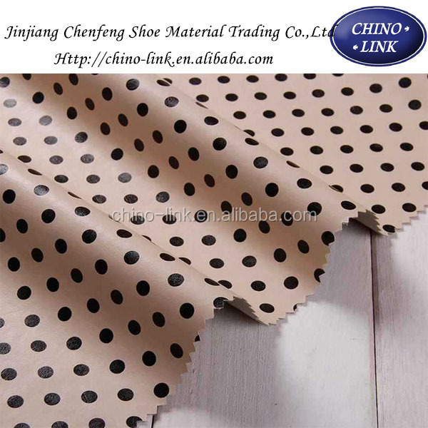 Manufacturers selling PU leather fabric Dot lamination fabric bags leather