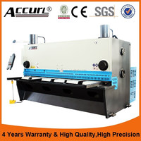 30X3200mm China Famous Brand Accurl Hydraulic Guillotine Shearing Machine Offered Overseas Service