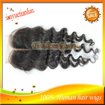High Quality 5A Grade 100%Brazilian Virgin Deep Wavy Human Hair With Baby Hair Style Swiss Lace Top Lace Front Closure