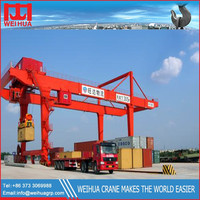 Top design traveling double girder container gantry crane
