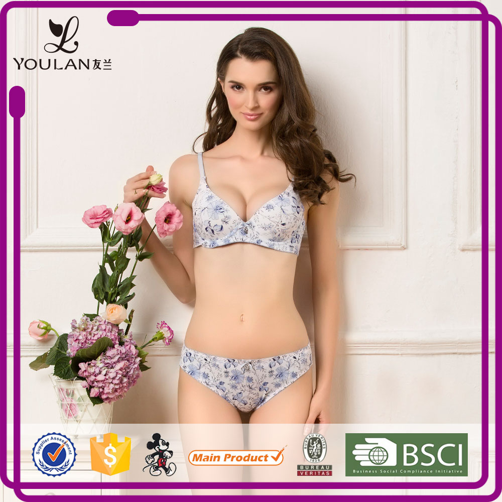 Modern Classical Mature Women Printing Women Stylish Bra And Underwear