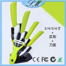 3'' 4'' 5'' 6'' ceramic knives set with stand + peeler