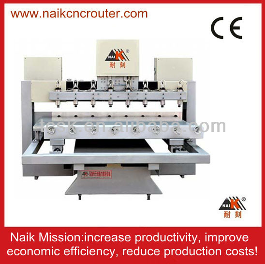 plane and 3D processing cnc wood router multi heads cnc engraving machine