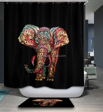 Factory direct sale high quality custom logo digital printing shower curtain/bathroom curtain,oil painting serie