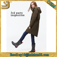 AW16 Latest fashion designs wind long winter women coat