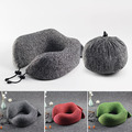 Sports mesh neck support personalized folding travel neck pillow