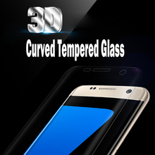 2017 wholesale Full Cover 3D Curved 9H screen protector for samsung galaxy s7 edge tempered glass for Samsung