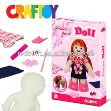 Art & Craft kit girl craft Design your girl doll kit