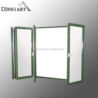 Mill finishing T5 Extruded aluminum profile window and door frames