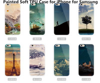 New Custom Painted Printed TPU Case Ultra Thin Gel Soft Clear Transparent Back Cover for iPhone 4S 5/5S 6 6Plus for Samsung