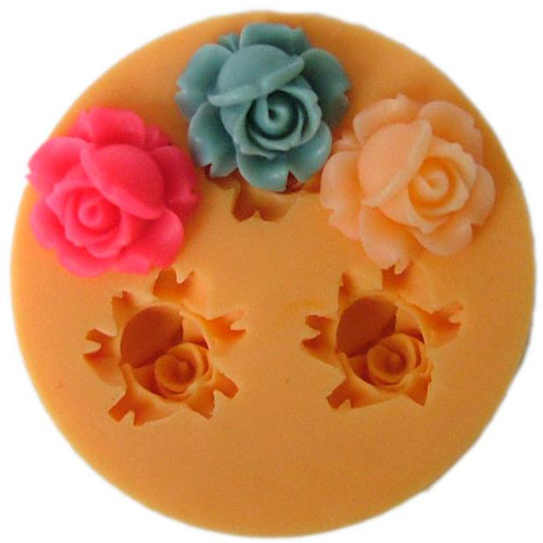 F0024 Nicole 3D Flower Silicone Fondant Mold Chocolate Making Tools