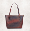 Retro wooden color lady leather bag