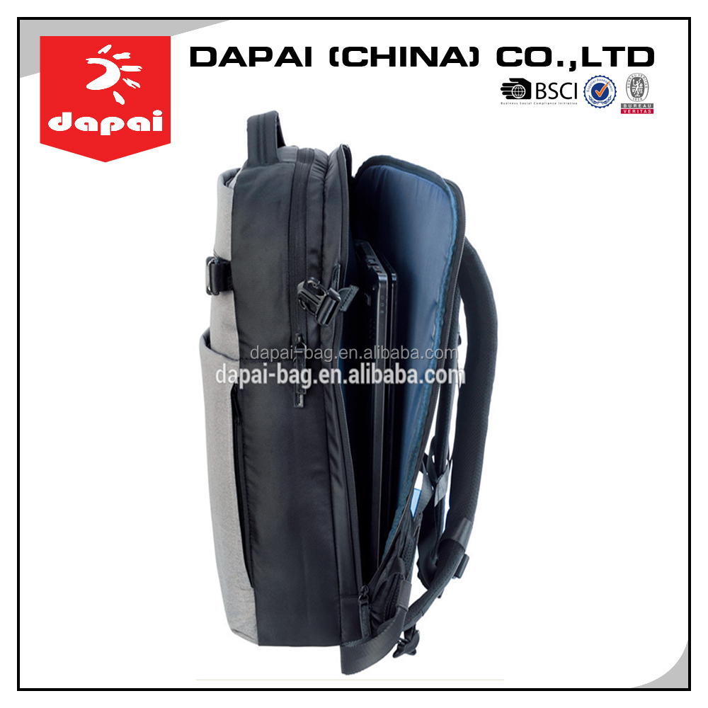 Quanzhou Dapai Hot Selling Men Flat Back Packs For Laptop Grey Business Laptop Bag