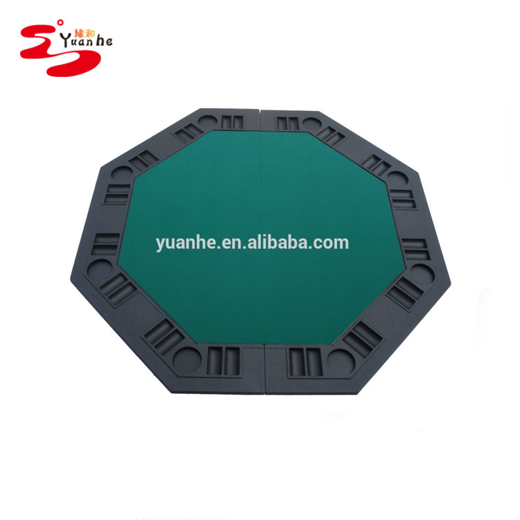 48 inch Green Color discount folding Plastic texas holdem table top for sale