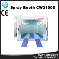 CW3100D car paint booth price lowest with 8KW intake fan