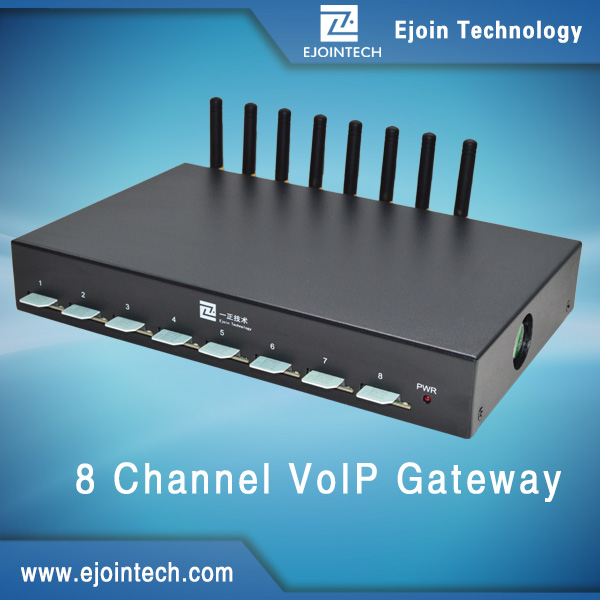 VOIP product ,8 port 8 sim VOIP GSM Gateway, bulk sms sending device free unlimited VOIP Calls