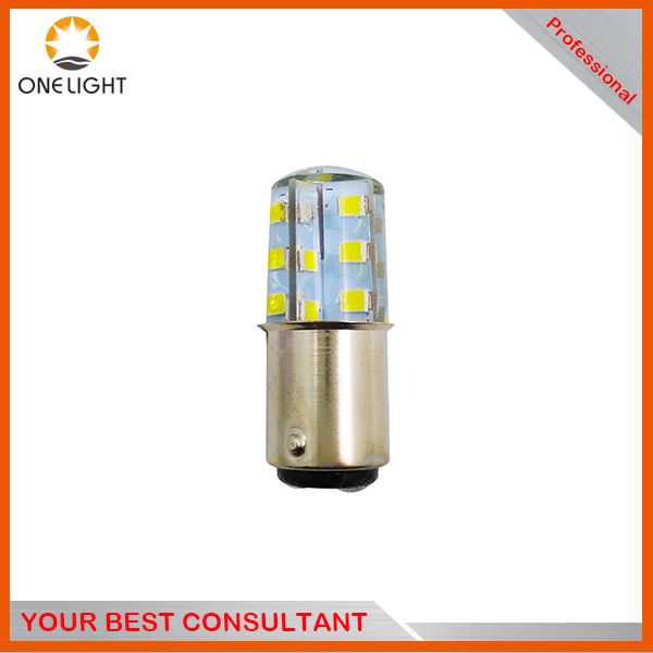 Guangzhou factory hot sale S25 24SMD 1156 1157 full silicon led bulbs waterproof car mototcycle bike turn signal brake light