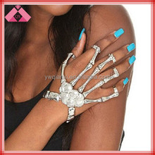 Pulsera Hot selling Europe America Punk Gold Finger Ring Bangles -BG15198