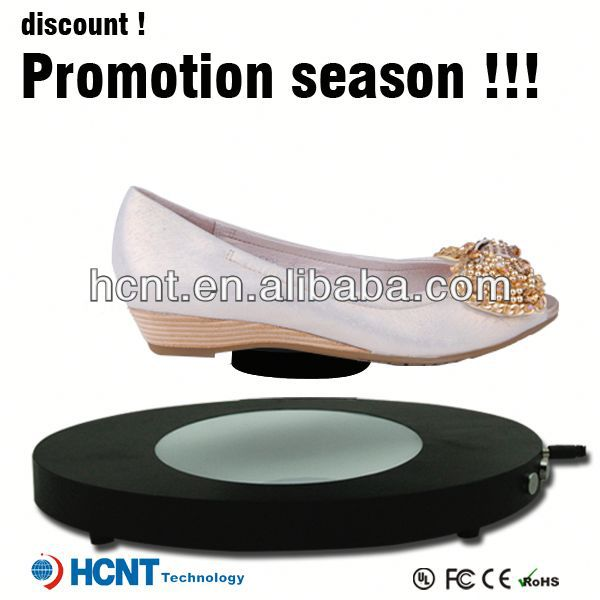new invention ! magnetic levitating led display stand for shoe woman,women diamond platform shoes high heel