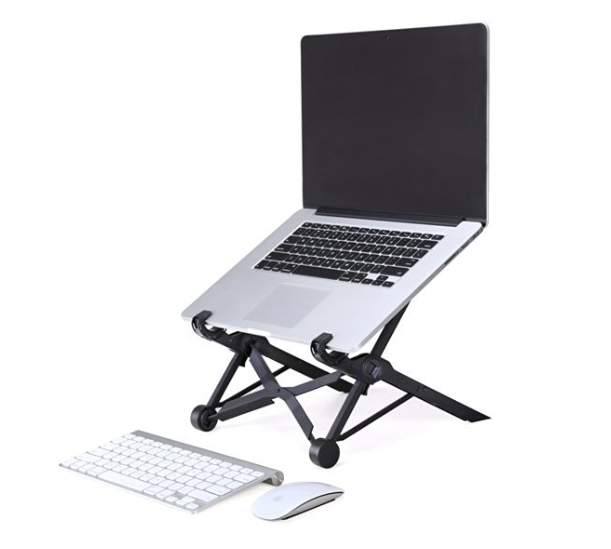 Ergonomic height adjustable portable laptop stand