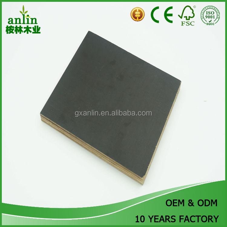 18mm Black Coted Film Faced Shuttering Plywood For Construction