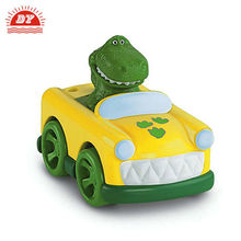 Mimi dinosaurs driving car,four wheel drive toy car