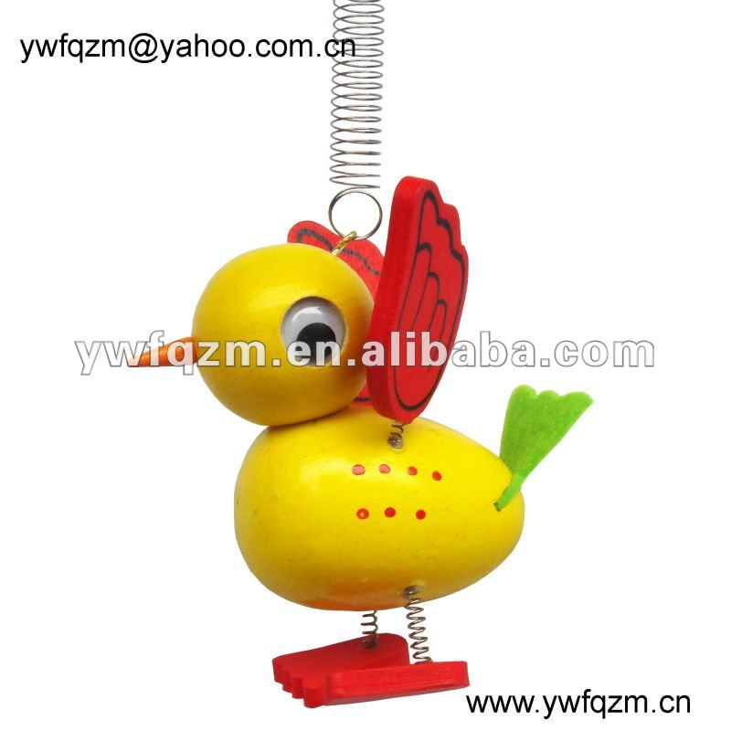 fashion spring toy wooden duck cheap baby dolls