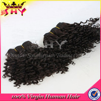 High quality 6a thick hair weft raw unprocessed virgin brazilian hair
