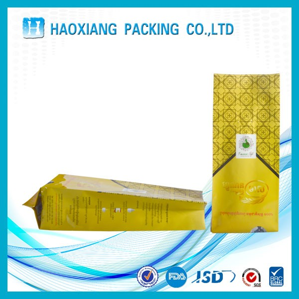 Zip lock stand up pouch with clear window, qingdao haoyu oem plastic packaging zipper bags for snacks fish/dog/cat food