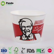 Fried chicken paper bucket/disposable food containers