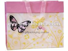 2012 Butterfly Gift Paper Bag with 3D flocked butterfly
