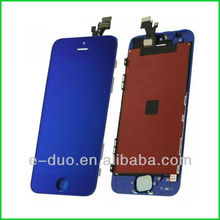 for iphone 5g LCD touch digitizer screen complete assembly mirror blue color convesion kit replacement