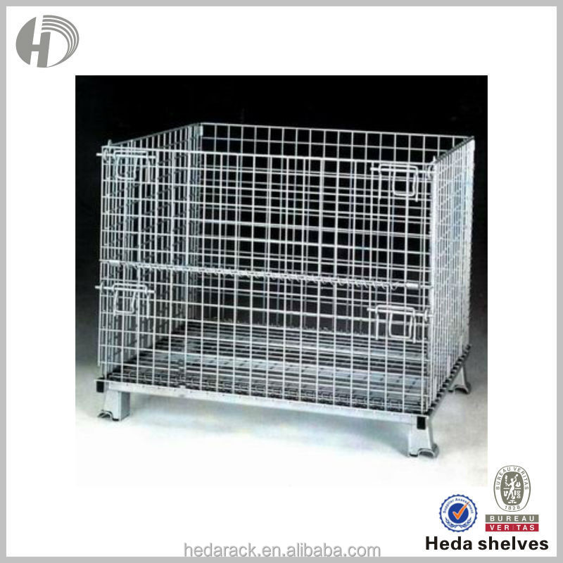 new rectangle collapsible steel metal cage with wheels