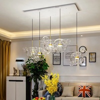 Modern clear Bubbles Decorative Glass Hanging Pendant Light
