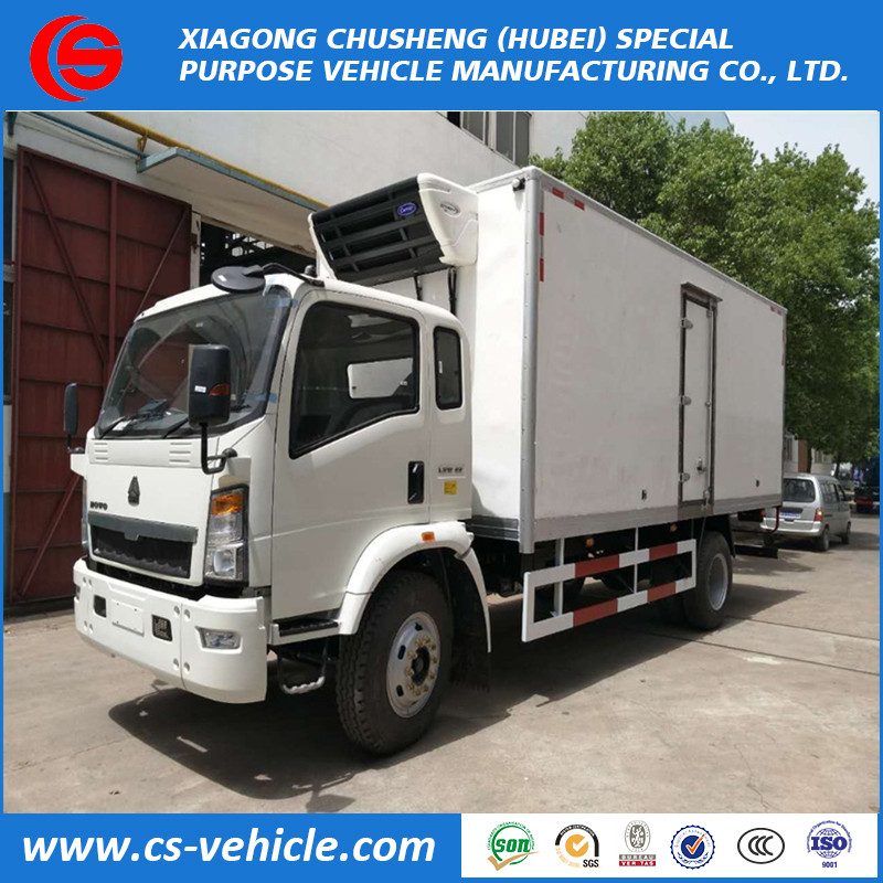Dongfeng 4x2 refrigerated truck freezer truck 2tons refrigerator truck