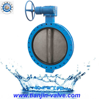 DN450 U Type Double flanged Butterfly Valve