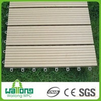 Recycled wpc decking deck wood plastic composite slats white and grey floor tiles