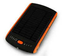 2014 waterproof 10000mah/10200mah solar power cell power bank