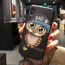 3d anime cartoon animal embossing phone case for iphone X, embossed phone case